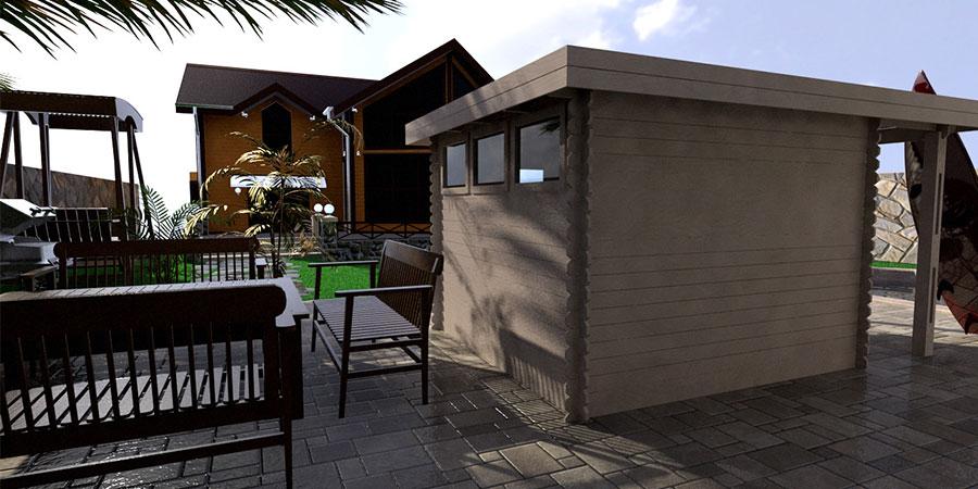 Backyard cabin majorca 9m granny flat canberra canberra outdoor majorca sl 1 malvernweather Choice Image